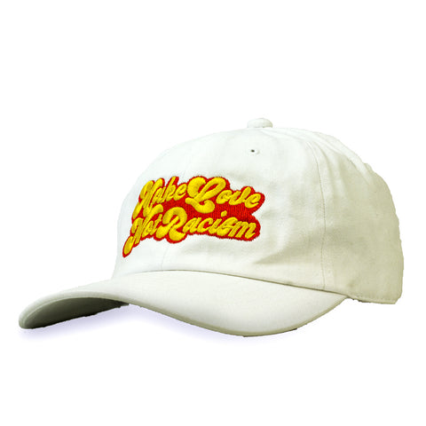 "ONLY THE LONELY ""MAKE LOVE"" EMBROIDERED 6-PANEL DAD'S CAP (WHITE)"