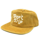 FREE AND EASY DON'T TRIP WASHED SNAPBACK HAT (MUSTARD)
