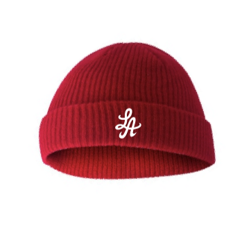 HOT ROD SHOREMAN LOGO BEANIE (RED/WHITE)