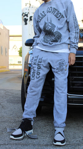 "THAI COWBOY ""REVOLVER GREY"" HEAVYWEIGHT SWEATPANTS"