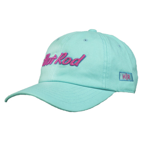 "HOT ROD ""AUGUST NIGHTS"" EMBROIDERED 6-PANEL (SEA FOAM)"