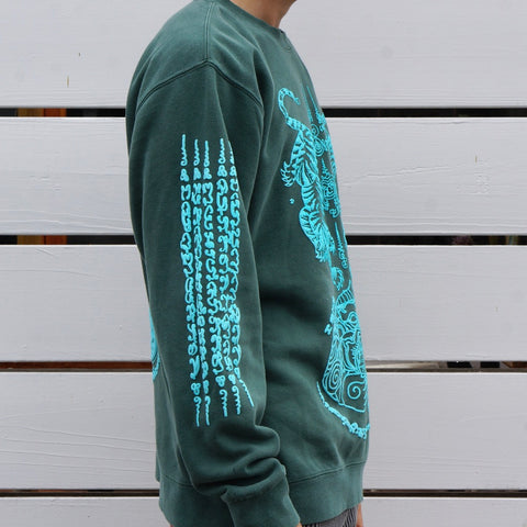 THAI TATTOO SWEATER ( MIDNIGHT SAGE)