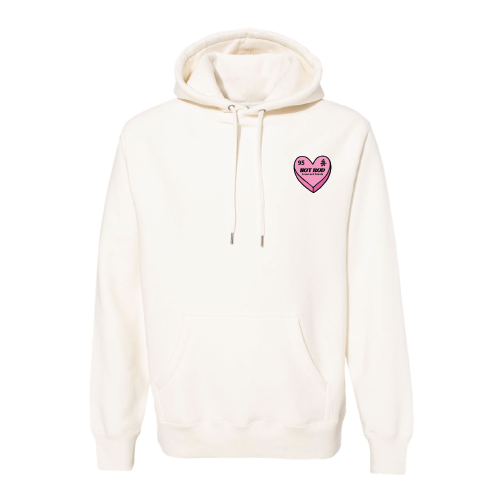 "HOT ROD ""FRIENDS & LOVERS"" CANDY HEART HOODIE (NATURAL)"