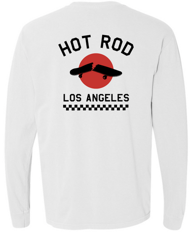 "HOT ROD ""WE USED TO BE A SKATE SHOP"" LONG SLEEVE (WHITE)"