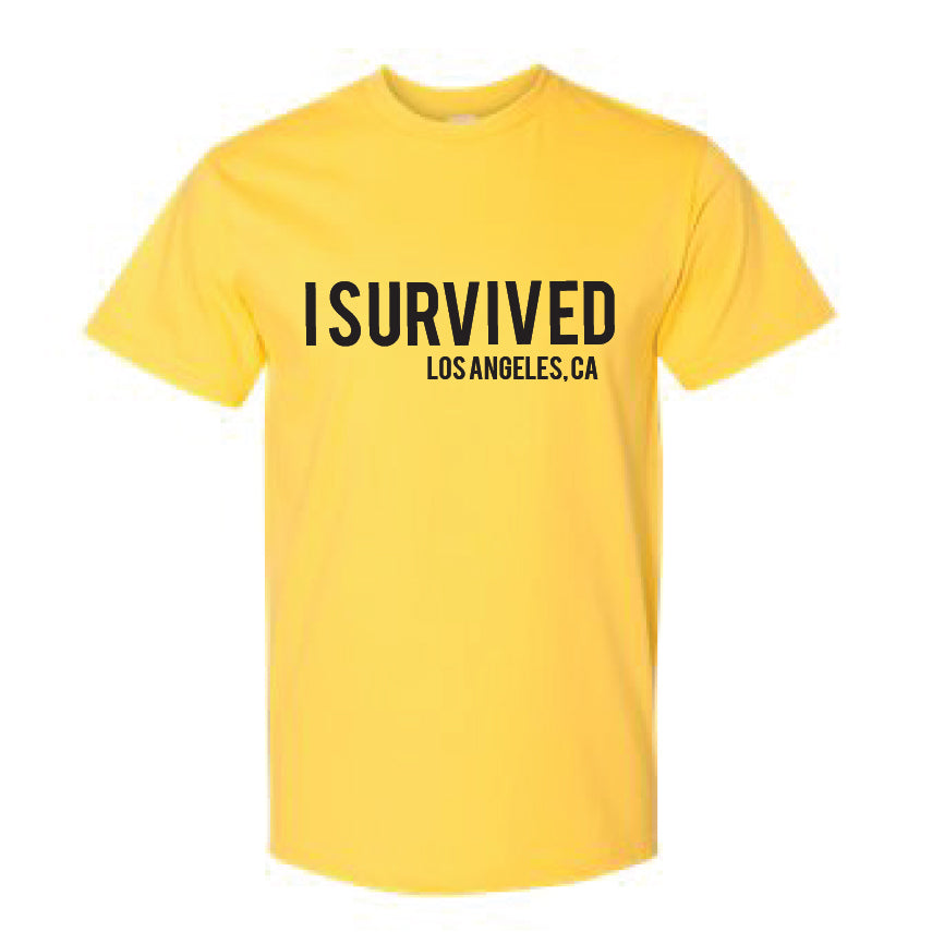 I SURVIVED (covid-19) YELLOW TEE SHIRT FOR CHARITY