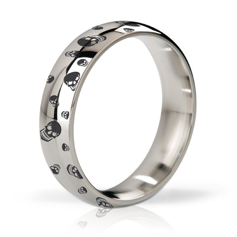 MYSTIM His Ringness Earl Polished & Engraved - Limahringur úr stáli (55mm)