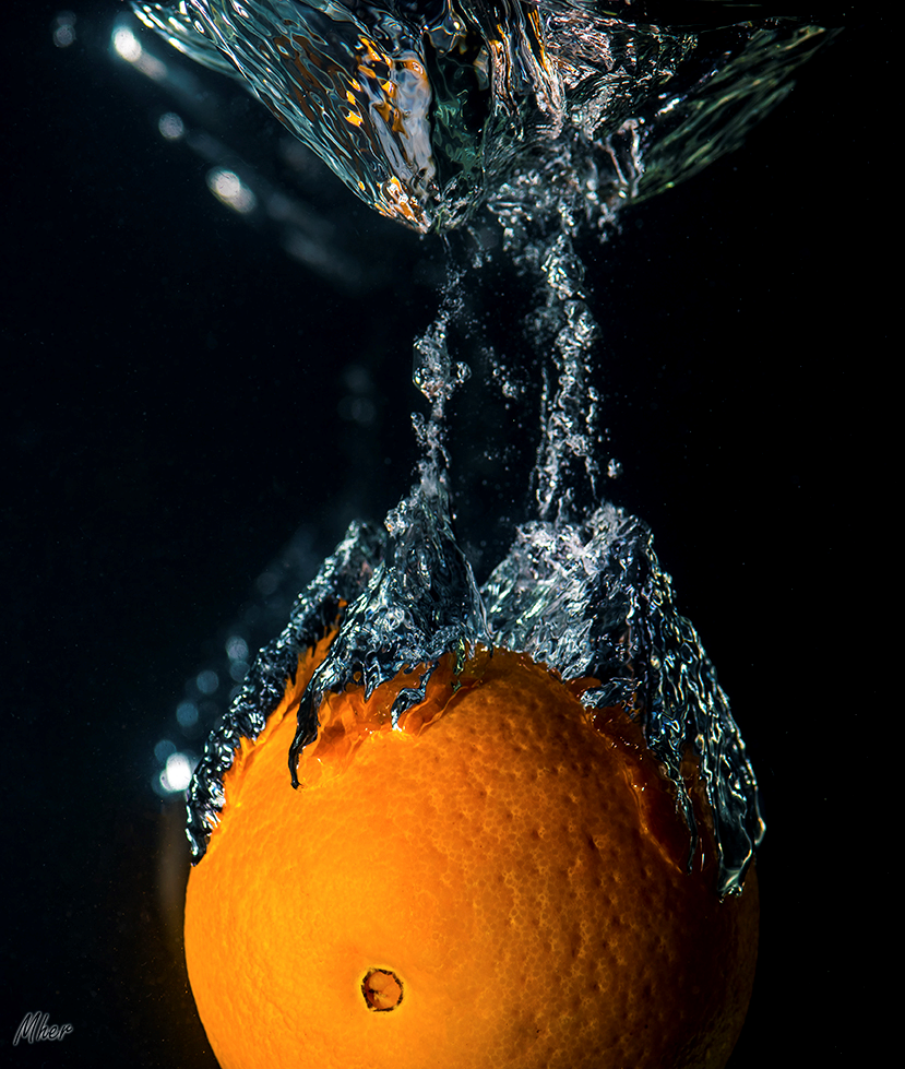 Orange in the water2