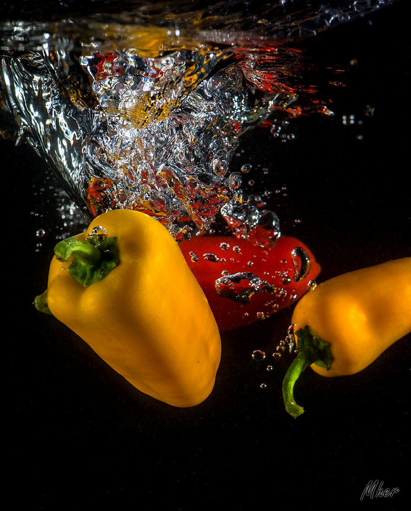 Peppers  in the water