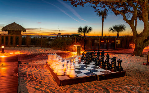 Beach and chess