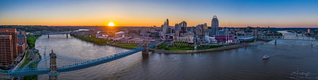 Cincinnati Skyline, Panoramic 1