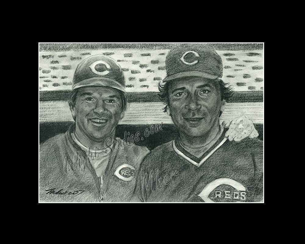 Pete Rose and Johnny Bench