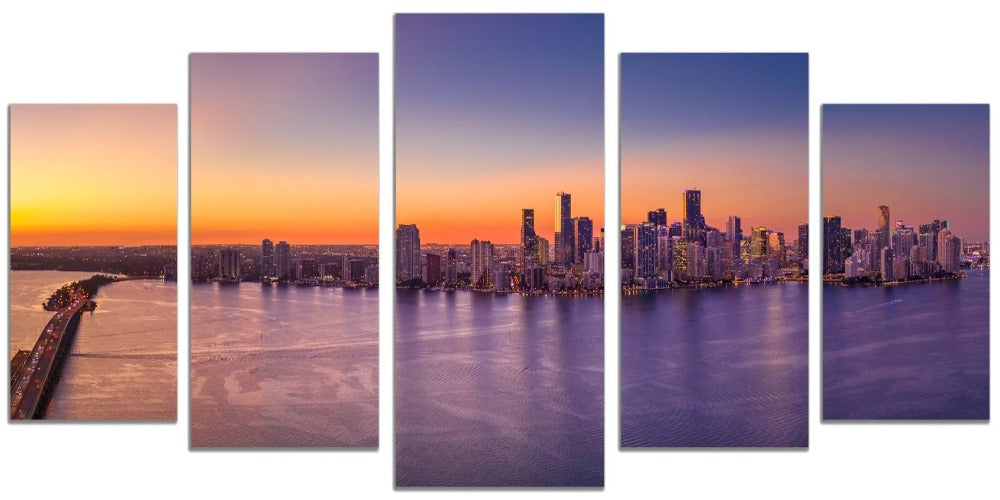 Downtown Miami  (5 Panel Split)