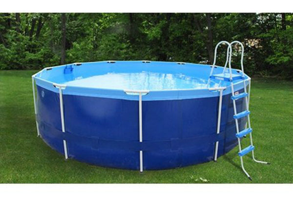 "Splash-A-Round Pools 16' X 48"" Quik Swim And Ladder Round Soft Side Pool"