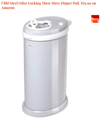 Ubbi Steel Odor Locking Must-Have Diaper Pail, $79.99 on Amazon