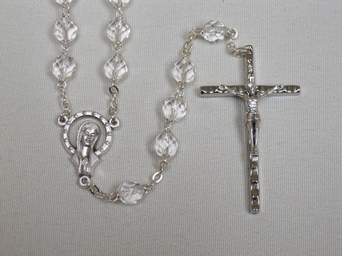 Bohemian Crystal Rosary Clear Default Title - St. Patrick's Gift Shop & Bookstore