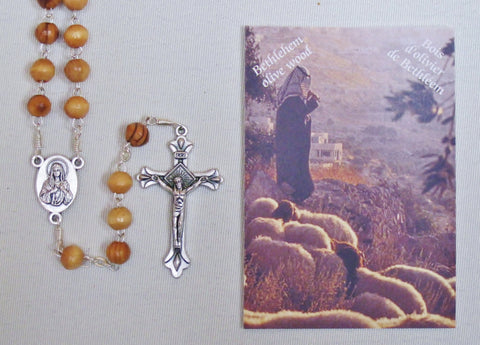 Holy Land Rosary in Olive Wood  - St. Patrick's Gift Shop & Bookstore