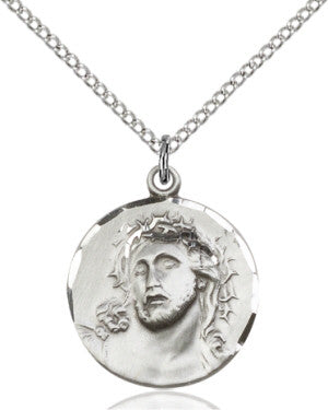 "SS Ecce Homo Medal 0154/ SS 24"" Curb Chain  - St. Patrick's Gift Shop & Bookstore"