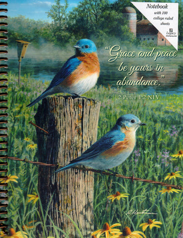 Bluebirds in the Mist - Grace and Peace Spiral Notebook  - St. Patrick's Gift Shop & Bookstore