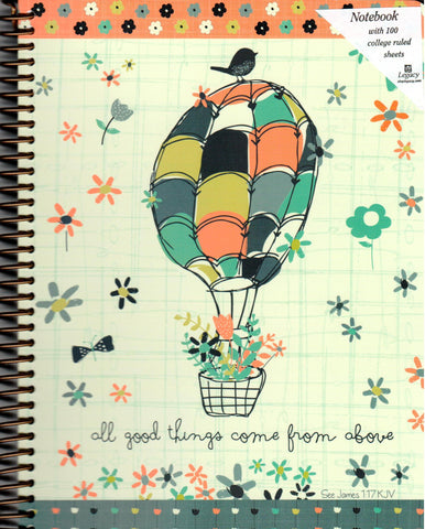 Spiral Notebook - All Good Things Come From Above  - St. Patrick's Gift Shop & Bookstore