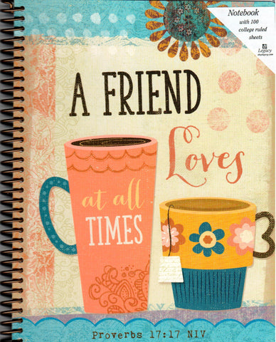 Spiral Notebook - A Friend Loves At All Times  - St. Patrick's Gift Shop & Bookstore