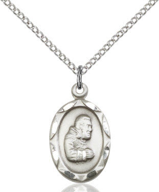 "SS St. Pio of Pietrelcina Medal 0612PI/ SN 18"" Curb Chain  - St. Patrick's Gift Shop & Bookstore"