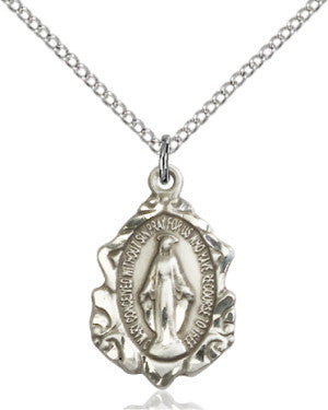 "SS Miraculous Medal 0822M/ SN 18"" Chain  - St. Patrick's Gift Shop & Bookstore"
