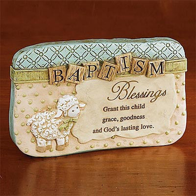 Baptism Blessings Sitting Plaque  - St. Patrick's Gift Shop & Bookstore
