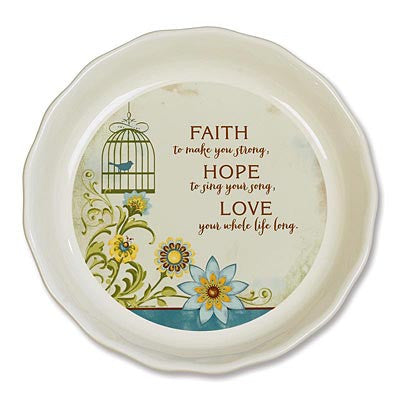 Faith, Hope, Love Pie Plate  - St. Patrick's Gift Shop & Bookstore