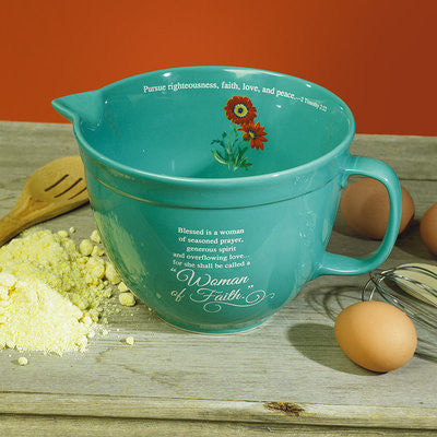 Woman of Faith Mixing Bowl  - St. Patrick's Gift Shop & Bookstore