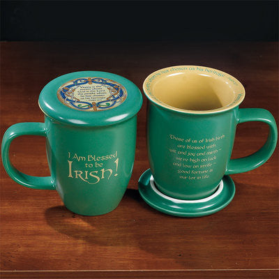 I Am Blessed To Be Irish! Coaster Mug  - St. Patrick's Gift Shop & Bookstore