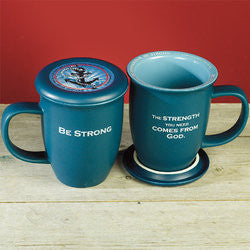 Be Strong Coaster Mug  - St. Patrick's Gift Shop & Bookstore