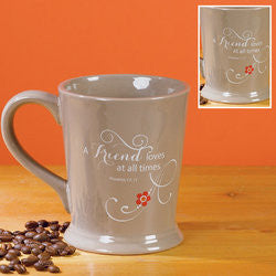 A Friend Loves at all Times Footed Mug  - St. Patrick's Gift Shop & Bookstore
