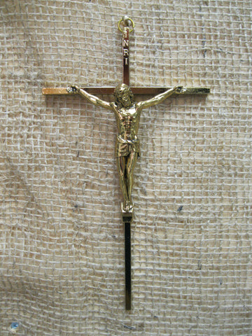 Gold Tone Metal Crucifix  - St. Patrick's Gift Shop & Bookstore