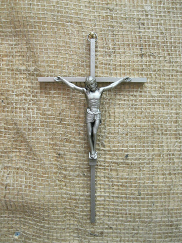 Antique Silver Metal Crucifix  - St. Patrick's Gift Shop & Bookstore