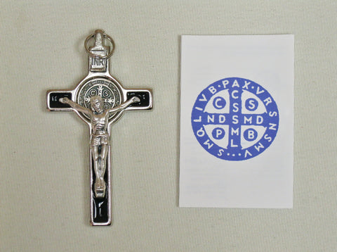 "3"" Benedictine Crucifix Black Enamelled in Box  - St. Patrick's Gift Shop & Bookstore"