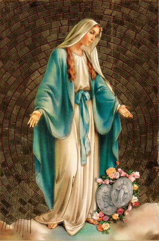 Our Lady of the Miraculous Medal Mosaic  - St. Patrick's Gift Shop & Bookstore