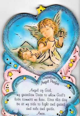 Guardian Angel Prayer Plaque  - St. Patrick's Gift Shop & Bookstore
