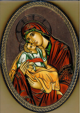 Virgin and Child (Oval)  - St. Patrick's Gift Shop & Bookstore