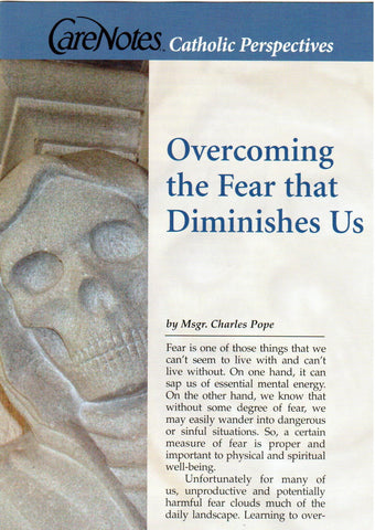 Overcoming the Fear that Diminishes Us  - St. Patrick's Gift Shop & Bookstore