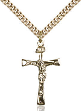 "GF Maltese Crucifix Polished/ 24"" Curb Chain  - St. Patrick's Gift Shop & Bookstore"