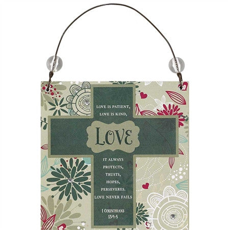 Love Is Patient Love is Kind Hanging Decoration  - St. Patrick's Gift Shop & Bookstore