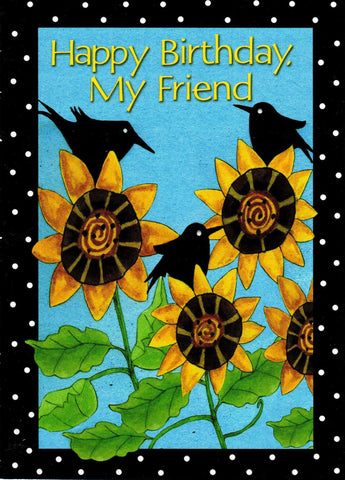 Happy Birthday My Friend- Sunflowers  - St. Patrick's Gift Shop & Bookstore