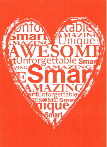 Awesome Heart Valentine Card  - St. Patrick's Gift Shop & Bookstore