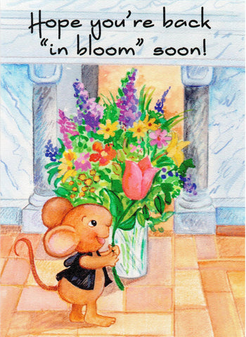 "Benny the Church Mouse - Hope You're Back ""In Bloom"" Soon!  - St. Patrick's Gift Shop & Bookstore"