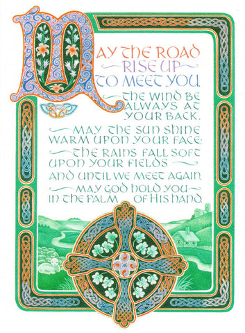 Celtic Greeting - May the Road Rise to Meet You  - St. Patrick's Gift Shop & Bookstore