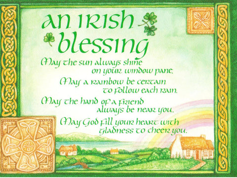 An Irish Blessing - May the Sun Always Shine  - St. Patrick's Gift Shop & Bookstore