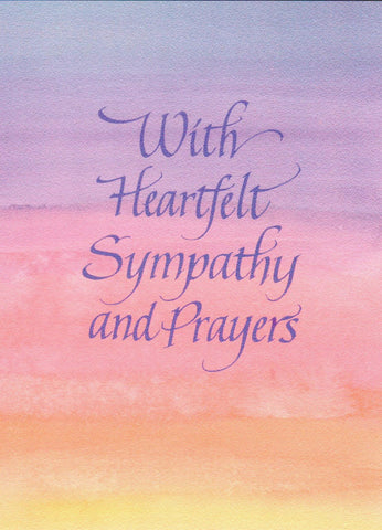 With Hearfelt Sympathy and Prayers (Watercolour)  - St. Patrick's Gift Shop & Bookstore