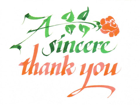 A Sincere Thank You  - St. Patrick's Gift Shop & Bookstore