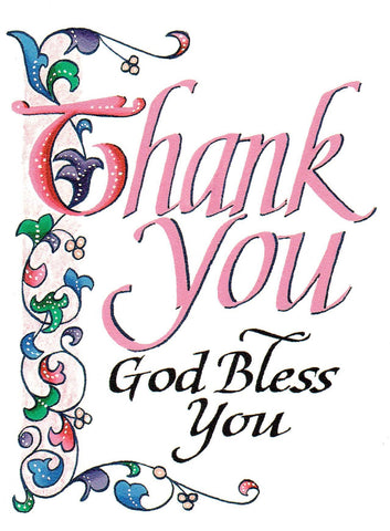 Thank You - God Bless You  - St. Patrick's Gift Shop & Bookstore