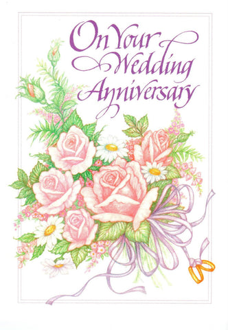 On Your Wedding Anniversary (Flower Bouquet)  - St. Patrick's Gift Shop & Bookstore